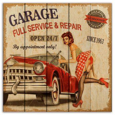 картина гараж