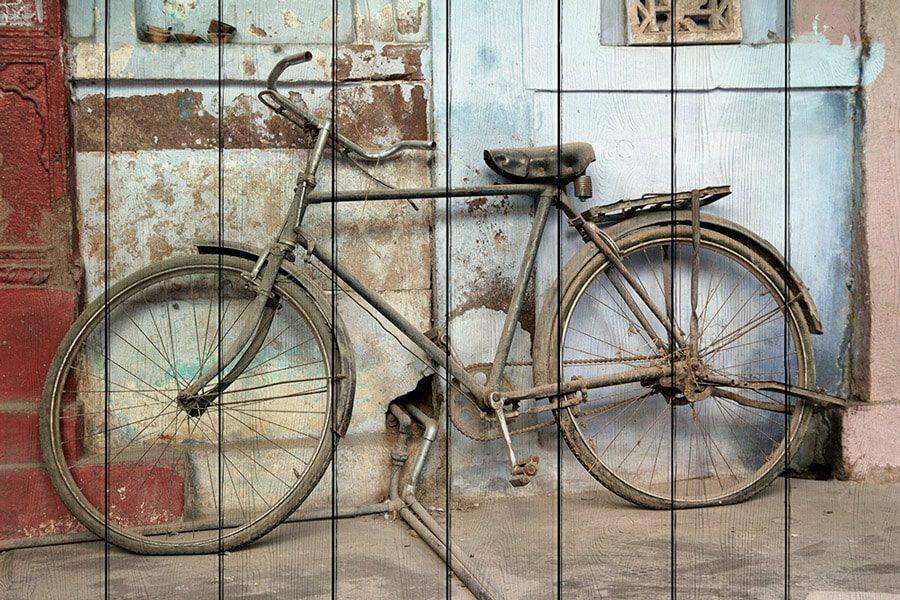картина Старый велосипед
