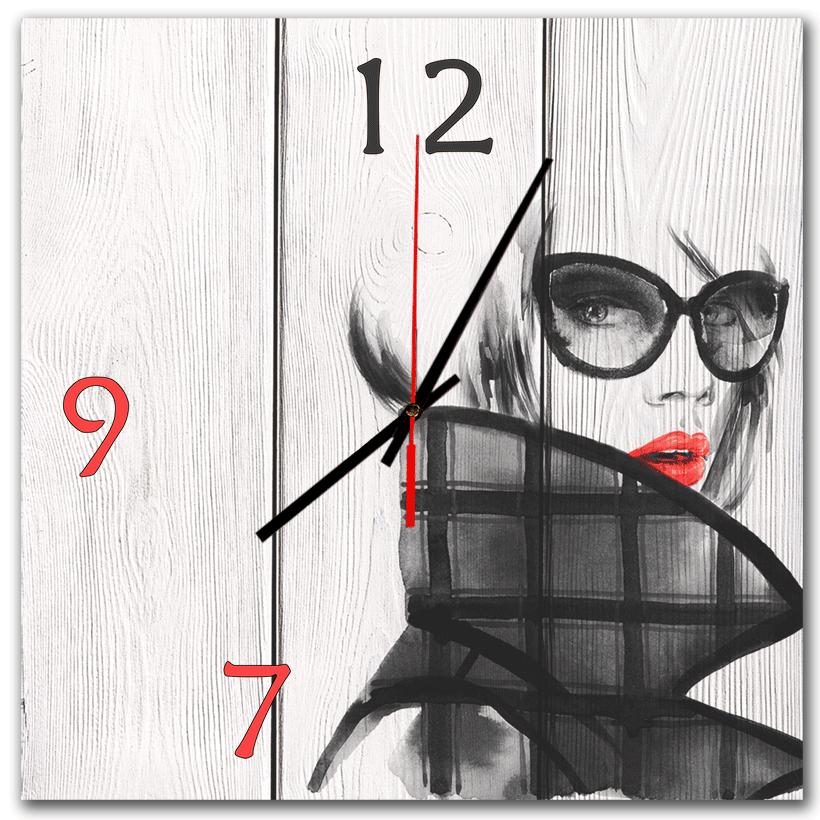 настенные часы в подарок дерево модница