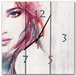 настенные часы в подарок дерево лик девушки
