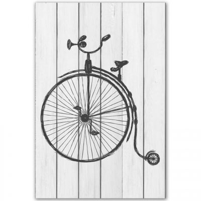 картина цирковой велосипед