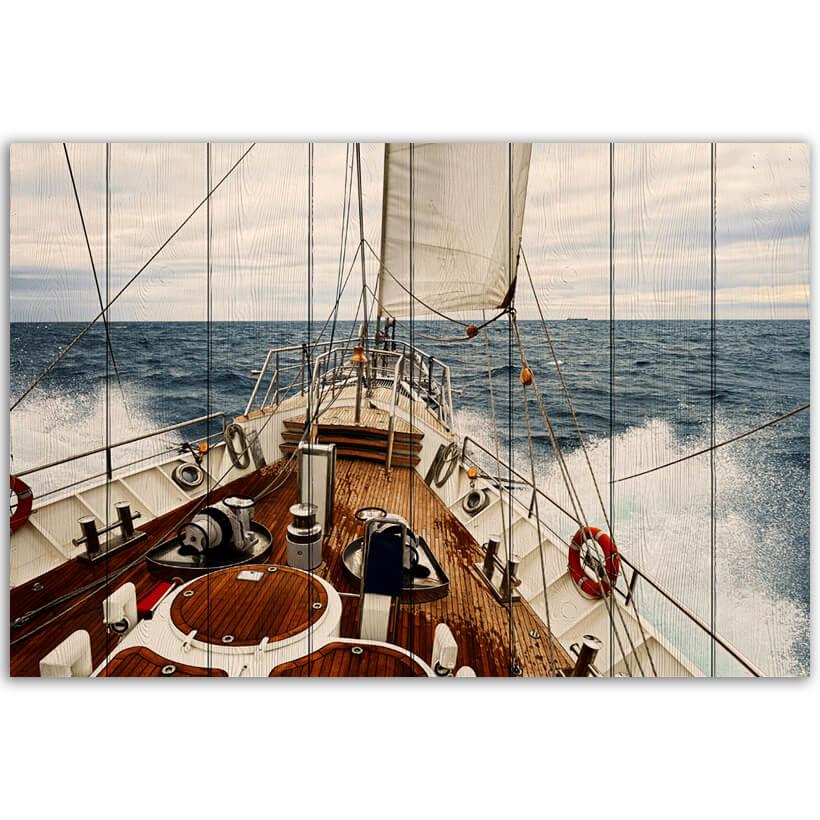 картина корабль в море