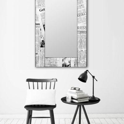 дизайнерское зеркало Газета Ньюз Вик