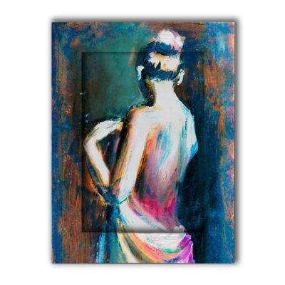 картина женщина спиной