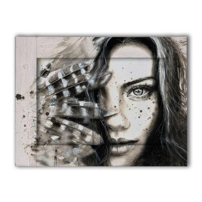 картина лицо женщины