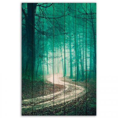 картина зеленый лес