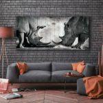 картина носороги