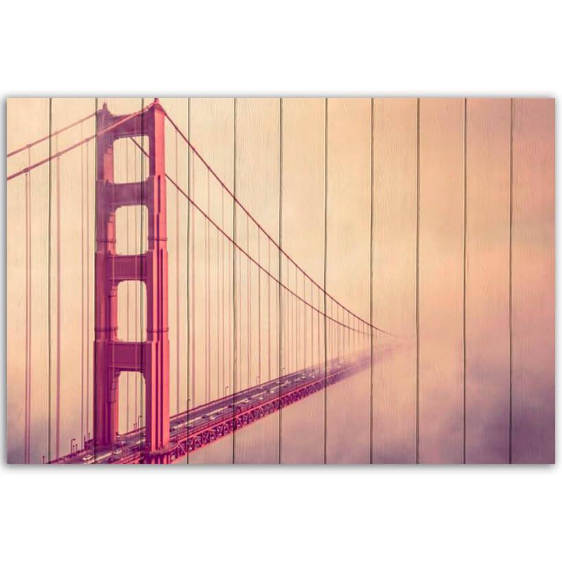 картина мост в тумане