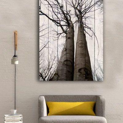картина два дерева