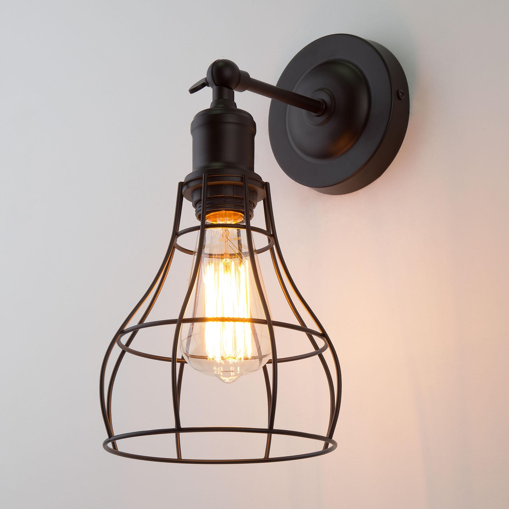 Настенный светильник  50062/1 черный ЕВРОСВЕТ ЕВРОСВЕТ