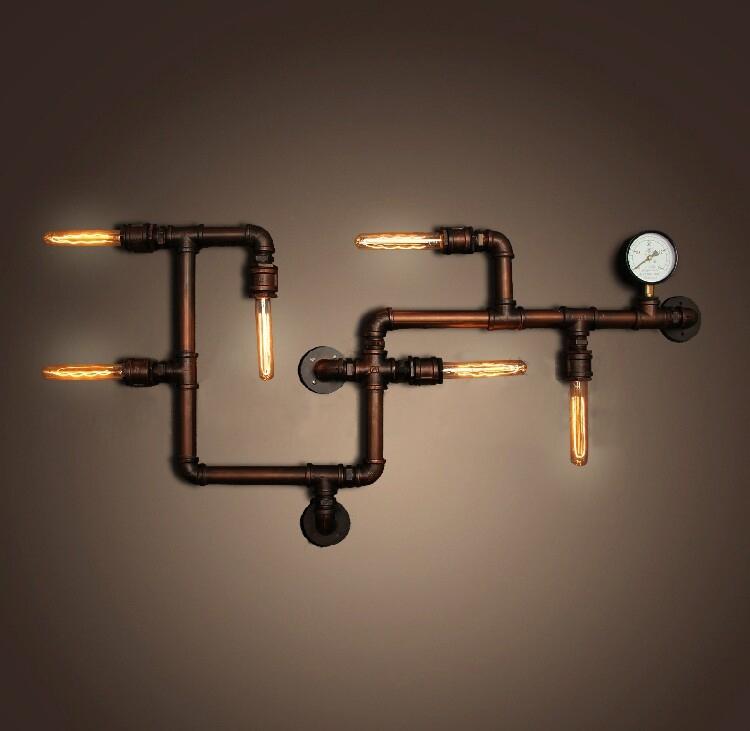 Бра лофт из труб Tube 30217 Реплика