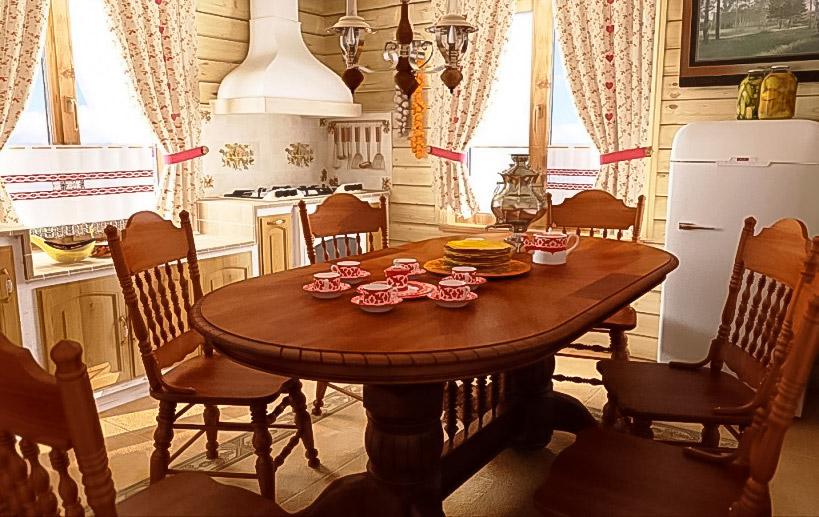 столовая в русском стиле
