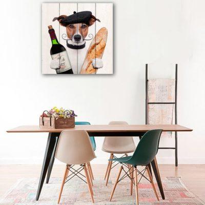 собака с вином