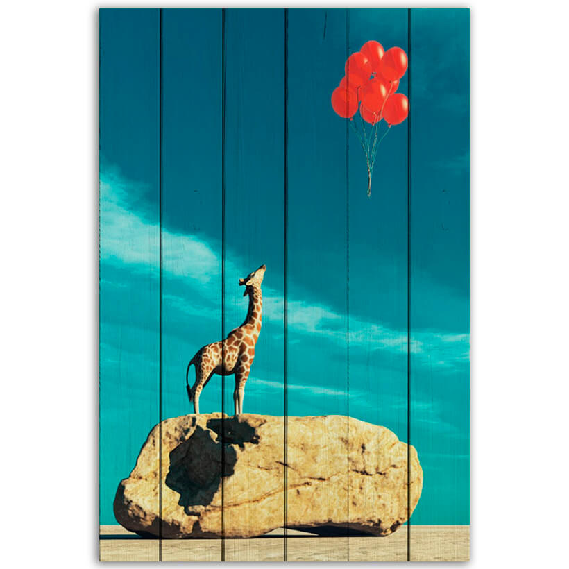картина Жираф и шарики