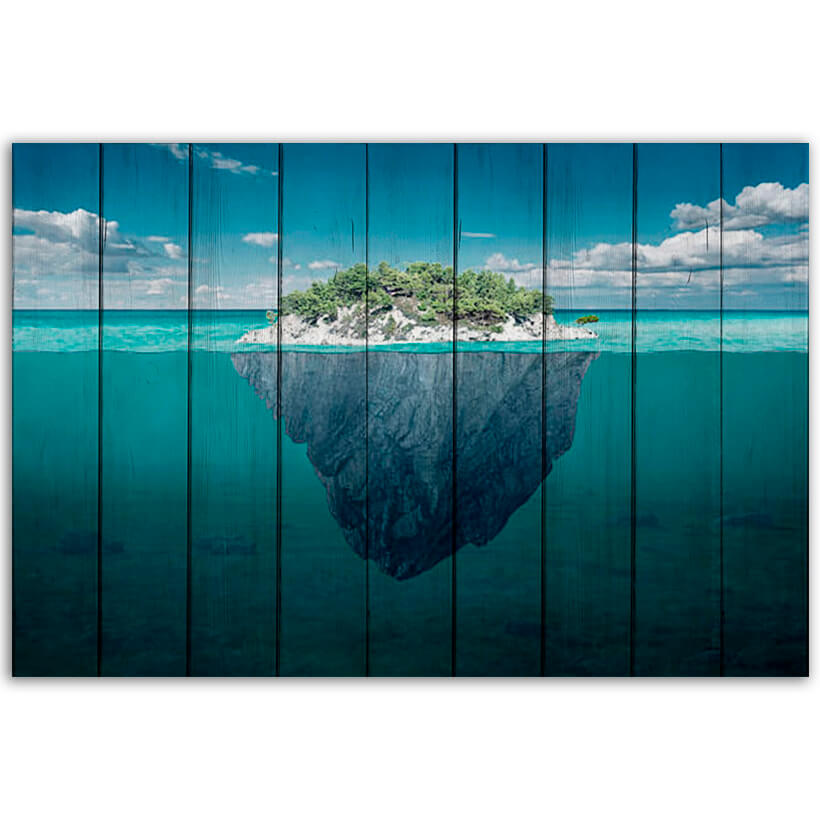 картина остров