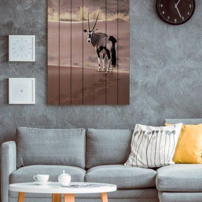 картина антилопа в пустыне