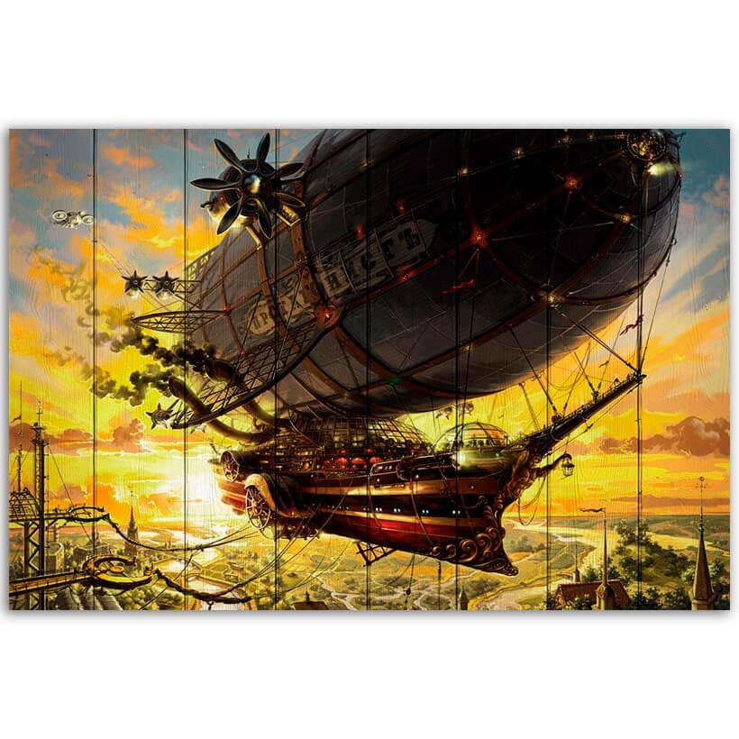 картина корабль стимпанк