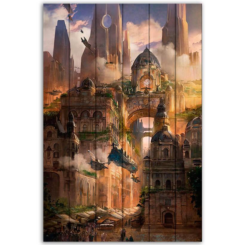картина город фэнтези