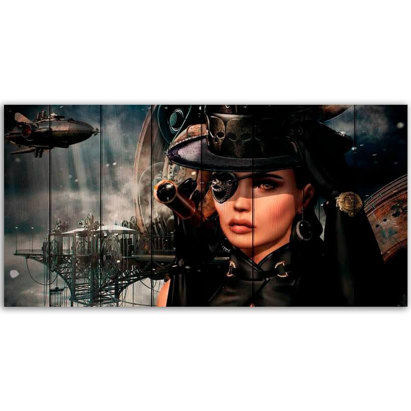 картина стимпанк пиратка