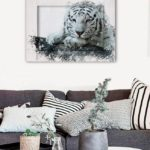 картина белый тигр