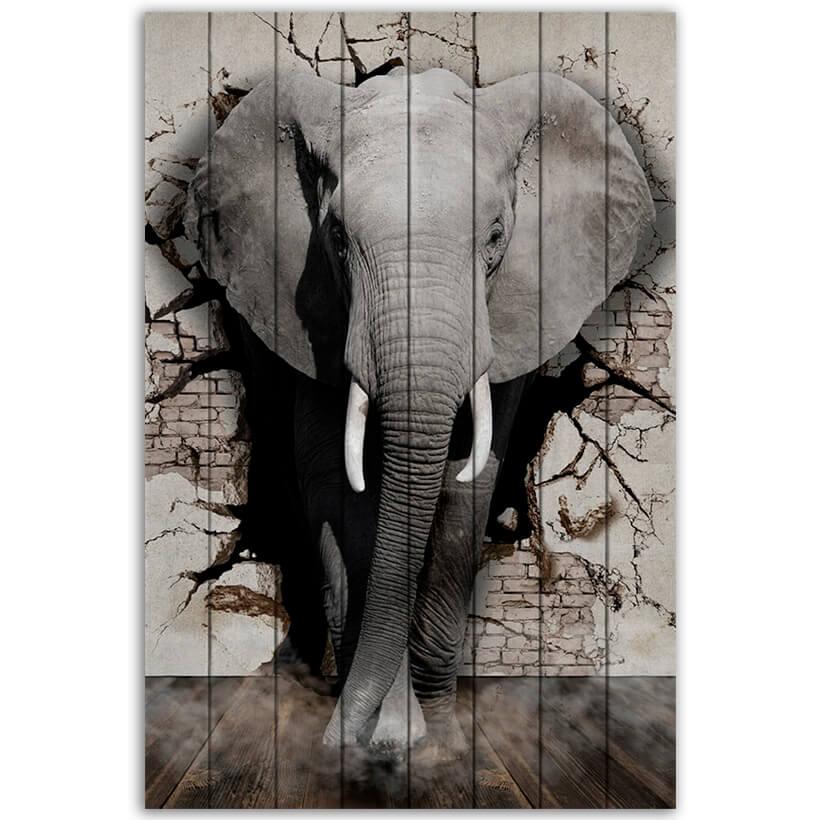 картина слон Дикий слон
