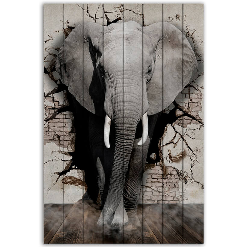 картина слон