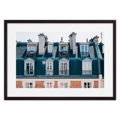 постер крыши Париж