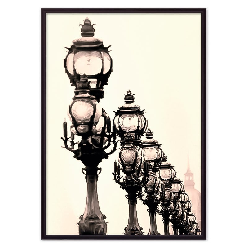 постер фонари Париж