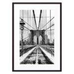 Постер бруклинский мост