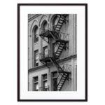 постер окна лестницы Нью-Йорк