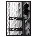 постер светофор Нью-Йорк