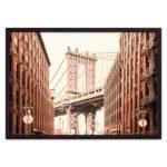 постер мост Нью-Йорк