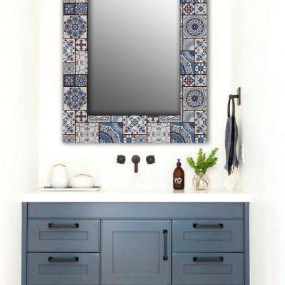 настенное зеркало плитка