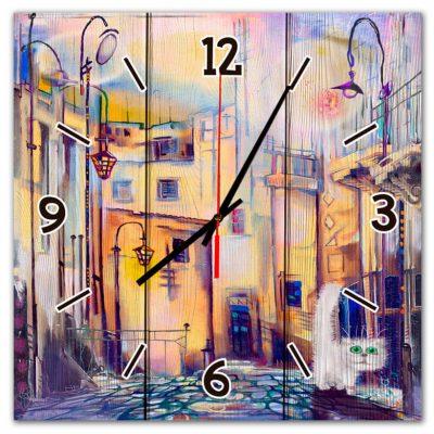 настенные часы с городом