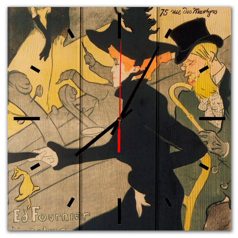 часы постер